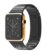42MM Apple Watch *SERIES 2* 24K GOLD plated W/Space Black Link CUSTOM RARE
