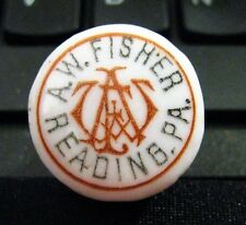 PRE-PRO  FISHER BEER -  BREWING CO READING PA PORCELAIN BOTTLE CAP SODA WHISKEY