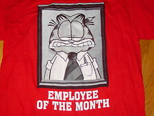 GARFIELD  EMPLOYEE of the MONTH  NEW  T-Shirt  Cute Funny   sz.. LARGE