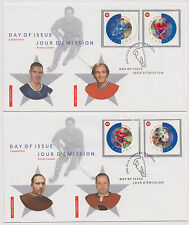 Canada FDC 2002 All Star Game Hockey All Time Greats 3 Covers 1 Postcard  