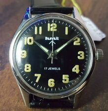 VINTAGE RARE INDIA MADE HMT JAWAN 17 JEWELS WINDING WRIST WATCH IO- 285