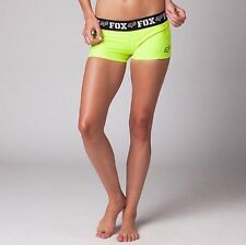 Fox Racing Womens Trainee Active Short Day Glo Yellow Size XL