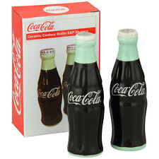 Coca-Cola ceramic Con tour bottle type salt and pepper bottle