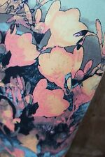AMISU SKINNY * Coloured Jeans * Blumen Blatt Muster * Indian Summer * Gr 40
