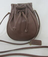 COACH vintage leather bonnie cashin drawstring SHOULDER cross body handbag USA