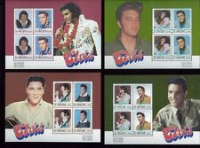 ELVIS PRESLEY Souvenir Sheet Set of Four #878 -81 MNH - St . Vincent E9