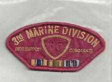 PATCH USMC MARINE CORPS 3RD MARINE DIVISION  SUPPORT COMMAND