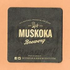 Muskoka Brewery Beer Mat Coaster Canada Craft Brew Cottage Country Bracebridge