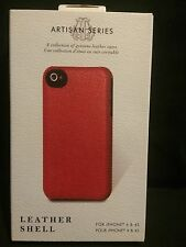 TRIBECA ARTISAN SERIES GENUINE LEATHER CASE RED FOR IPHONE 4 & 4S