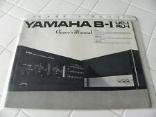 Yamaha B-I UC-I  RU-I Owner's Manual  Operating Instructions Istruzioni New