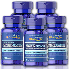 Puritan's Pride DHEA 50MG 5 Bottles X 50 Caps Lot -USA (Dehydroepiandrosterone)