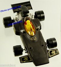 Voiture FORMULE 1 LOTUS JPS F1 n° 806 à friction noir sport car Texaco Hong Kong