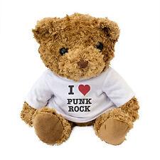 NEW - I LOVE PUNK ROCK - Teddy Bear Cute Cuddly - Music Gift Present Birthday