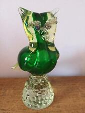"VINTAGE MURANO GLASS OWL 8.5"" TALL 1.45KG"