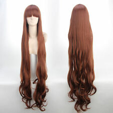Japan Anime ZONE(Tsuchigumo)Long Curly Brown Cosplay Wig 120cm+Gift