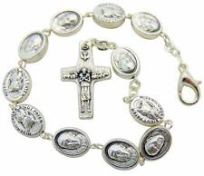 Year of Divine Mercy Pope Francis Medal Bracelet Saint Gift 8 Inch Metal  Italy