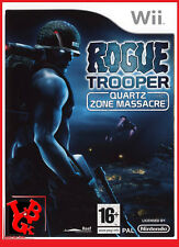 ROGUE TROOPER Quartz Zone Massacre Wii Nintendo jeu Video compatible Wiiu Wii-U