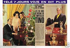 Coupure de presse Clipping 1983 (4 pages ) Tino Rossi