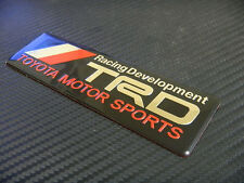 CAR TRD SIDE FENDER TRUNK BADGE EMBLEM BLACK