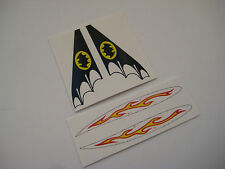 Corgi 1003 Juniors Batman Early Batboat Stickers Decals  - Full Set