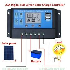 20A 12V/24V Solar Charge Controller LCD Display/USB Interface for Phone Charge