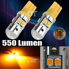 2X 2538 Chip LED High Power Amber/Yellow T10/192 Interior Light Bulbs