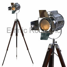 DESIGNER look Vintage Design searchlight Spotlight Telescopic Tripod Floor lamp