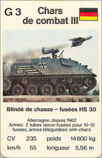 Schützenpanzer  HS 30 GERMANY PANZER TANK PLAYING CARD CARTE A JOUER