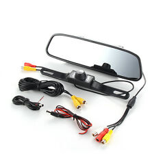 4.3'' LCD HD Car Rear View Mirror Monitor LED Night Vision Reverse Backup Camera