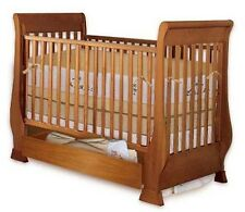Baby Sleigh Crib Bed Nursery Furniture Woodworking Plans On Paper