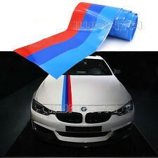 1.5M M-Colored Stripe Car Hood Vinyl Sticker Decal For BMW M3 M5 M6 3/5/7 Series