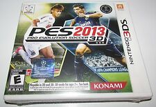Pro Evolution Soccer 2013 3D for Nintendo 3DS Brand New! Factory Sealed!