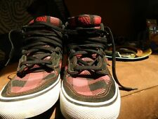 Public Royalty Black & Red Canv Buffalo Plaid Skate Shoe Size 7 Athletic Sneaker