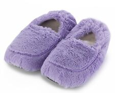 Intelex Cozy Microwavable Slippers Lilac Heatable Luxury Furry Bed Feet Warmer