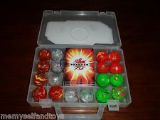 BAKUGAN CASE 18 BAKUGAN 18 GATE CARDS 18 ABILITY TRANSLUCENT ORANGE PYRUS  GREEN