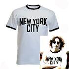 John Lennon Ringer Black and White New York City T-Shirt The Beatles NYC NEW