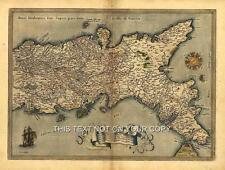 Napolitaine naples italie italia sardaigne sicile & corse couleur antique old map