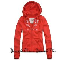 NEW ABERCROMBIE & FITCH FULL A&F ZIP HOODIE JACKET WOMEN Laura Shine * Orange L