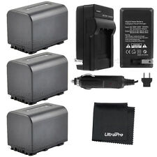 3x NP-FV70 Battery + Charger for Sony HDR-CX110 CX130 CX350 CX550V CX760V