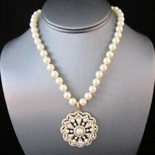 BID - Urban Anthropologie Majestic Pearl Pendant Rhinestone Necklace