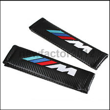 2x Carbon Fiber Seat Belt Shoulder Pad Pads Cushions Cover For BMW M3 M5 E39 E46