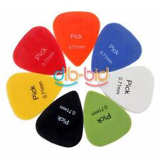 Liscio colorati 10Pcs 0.71mm Plettro per media chitarra celluloide nylon