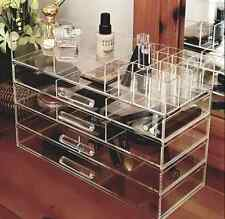 Jewelry Cosmetic Makeup Drawers Stand Clear Storage Display Organizer Case Box