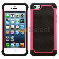 Hybrid Rugged Rubber Matte Hard Case Cover Skin for Apple iPhone 5C Rose