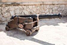 Arredamento giardino garden furniture ancient cannon cannone antico antiquariato