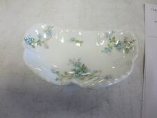 "Haviland Limoges 6"" HP Bone Dish Unknown Pattern"