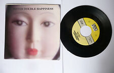 """DISCO 45 GIRI SISTER DOUBLE HAPPINESS """"DON'T WORRY/ WHEELS A' SPINNING"""" 1990"""