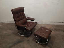 Mid Century Ekornes Stressless Lounge Chair and Ottoman