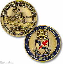 "NAVY USS PATRICK O. FORD FFG-54 1.75"" MADE IN USA CHALLENGE COIN"