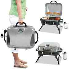 Outdoor Gas Grill Portable Safe Lid Barbeque Propane Stainless Steel BBQ Smoker